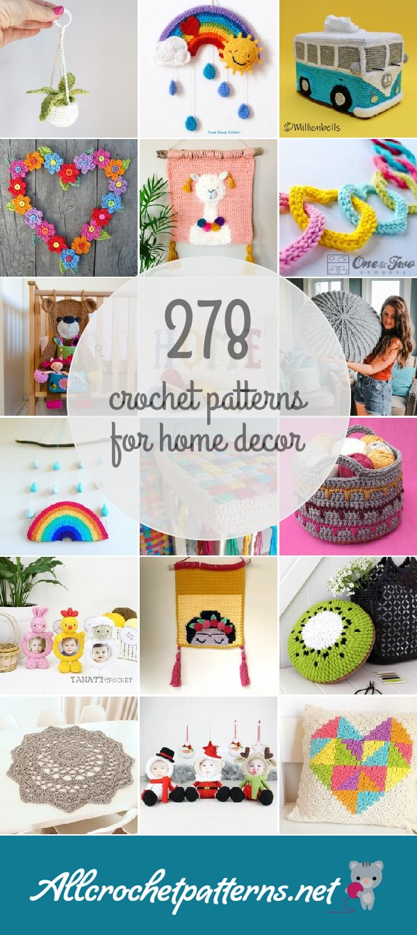 116 home decor crochet patterns for All home accessories