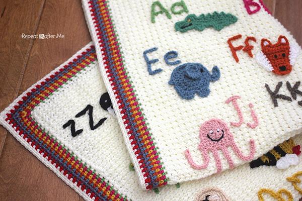Animal Alphabet Afghan Free Crochet Pattern