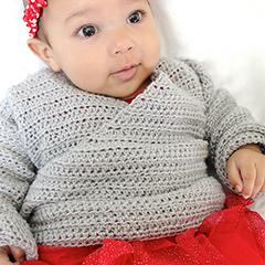Baby kimono sweater crochet pattern - Allcrochetpatterns.net