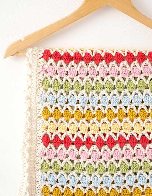 X Stitch Crochet Baby Blanket Pattern : Beatrice Baby Blanket crochet pattern - Allcrochetpatterns.net