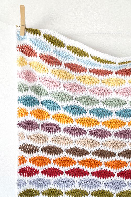 Crochet Patterns For A Blanket : Bertie Baby Blanket crochet pattern - Allcrochetpatterns.net