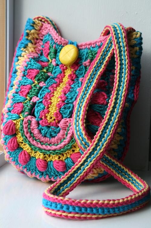 Boho bag crochet pattern - Allcrochetpatterns.net