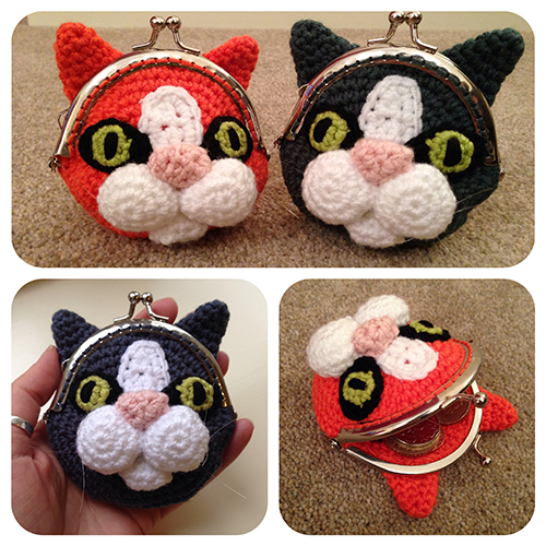Cat Coin Purse crochet pattern by Laura Loves Crochet