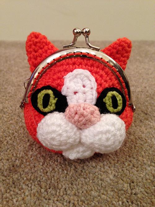 Cat Coin Purse crochet pattern by Laura Loves Crochet