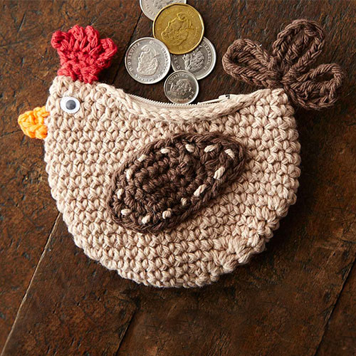All Crochet Com : Cluck change purse - Free crochet pattern