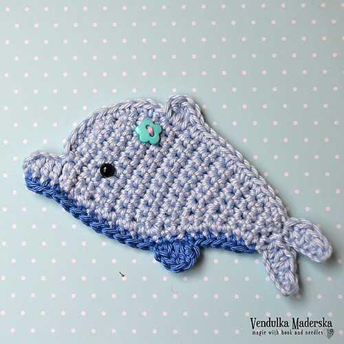 Dolphin Applique Crochet Pattern Allcrochetpatterns