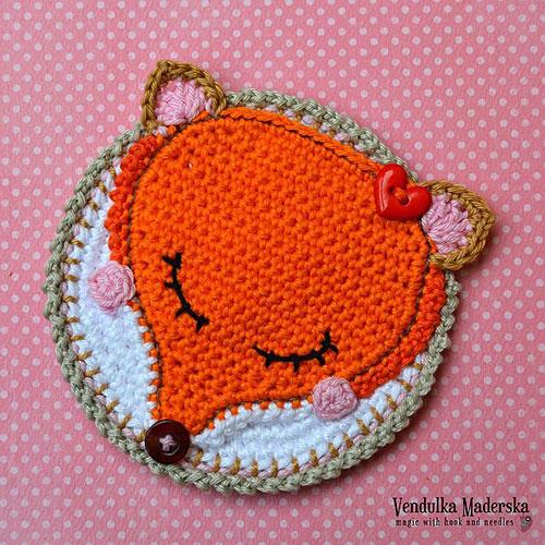 Fox Coaster Crochet Pattern Allcrochetpatterns