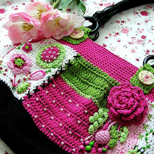 Crochet Net Bag Pattern : Gently love bag crochet pattern - Allcrochetpatterns.net