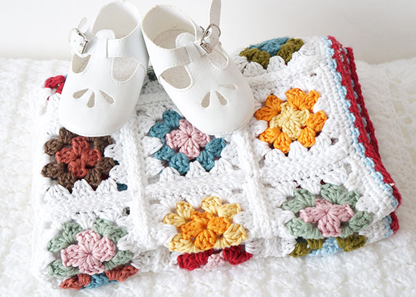 Granny Square Baby Blanket Crochet Pattern Allcrochetpatterns