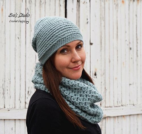 Hat And Neck Warmer Crochet Pattern Allcrochetpatterns