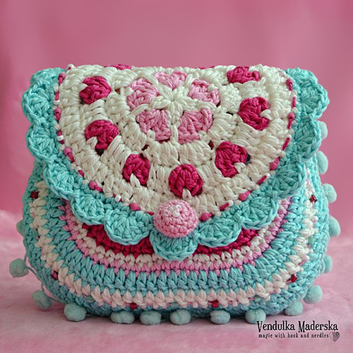 Crochet Stitches Net : ... .net > patterns > VendulkaMs patterns > Hearts purse