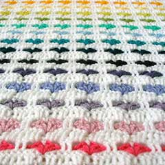 Free Crochet Afghan Patterns For Using Scraps : I love scraps Afghan - Free crochet pattern