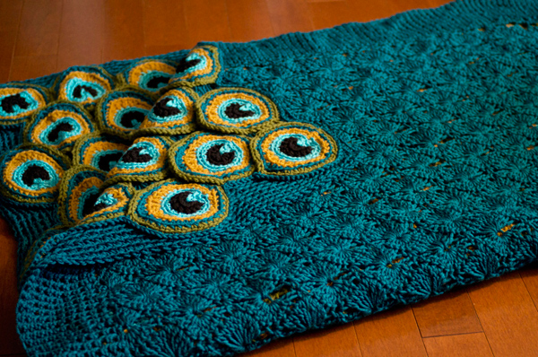 Pretty Crochet Patterns : Preacock pretty afghan crochet pattern - Allcrochetpatterns.net