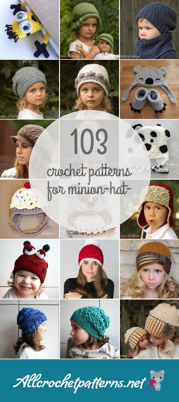 c11b5efab13 Minion-hat- patterns - Allcrochetpatterns.net