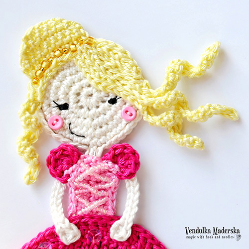 Princess applique crochet pattern - Allcrochetpatterns.net