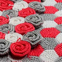 Rose Field blanket crochet pattern by YarnTwist