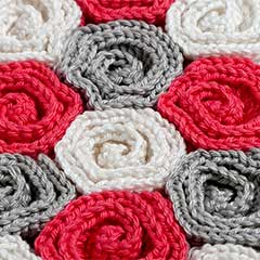Rose Field blanket crochet by YarnTwist