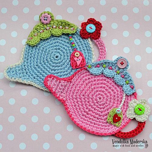 Teapot Coaster Crochet Pattern Allcrochetpatterns