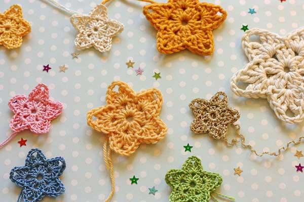 Twinkler stars applique - Free crochet pattern