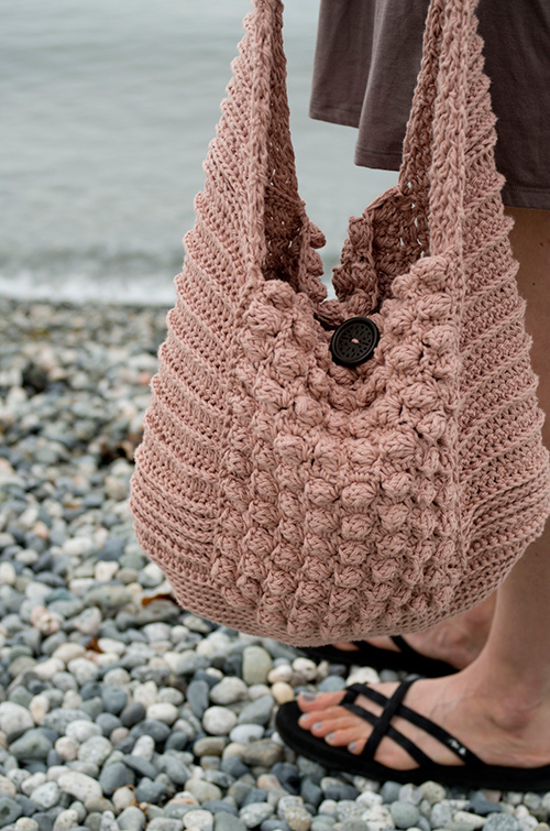 Vintage vibe beach bag crochet pattern - Allcrochetpatterns.net