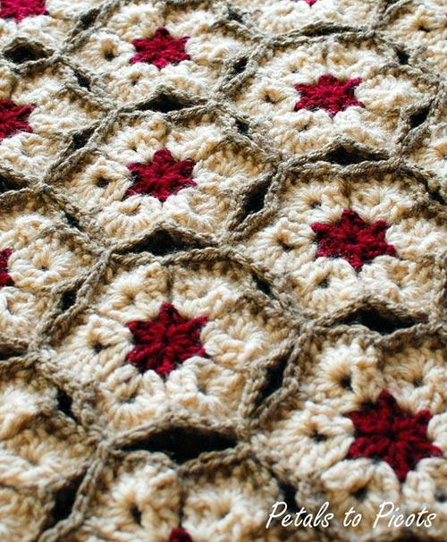 African flower afghan - Free crochet pattern