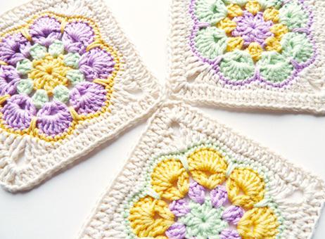 African flower square free crochet pattern - Piastrelle esagonali uncinetto ...