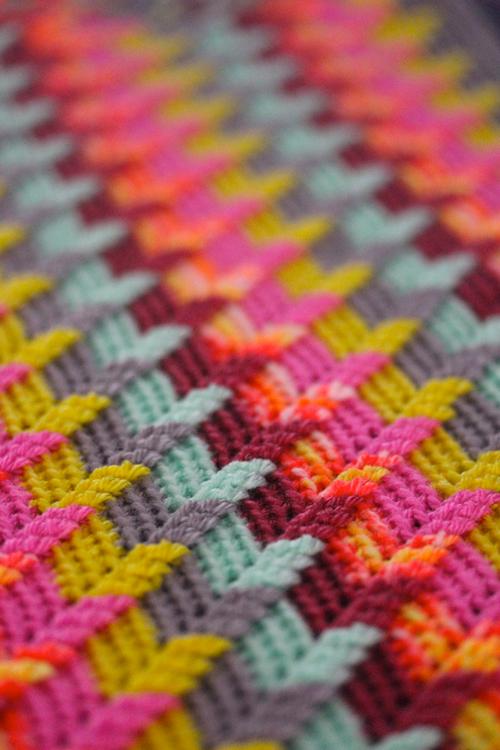 Apache tears blanket - Free crochet pattern