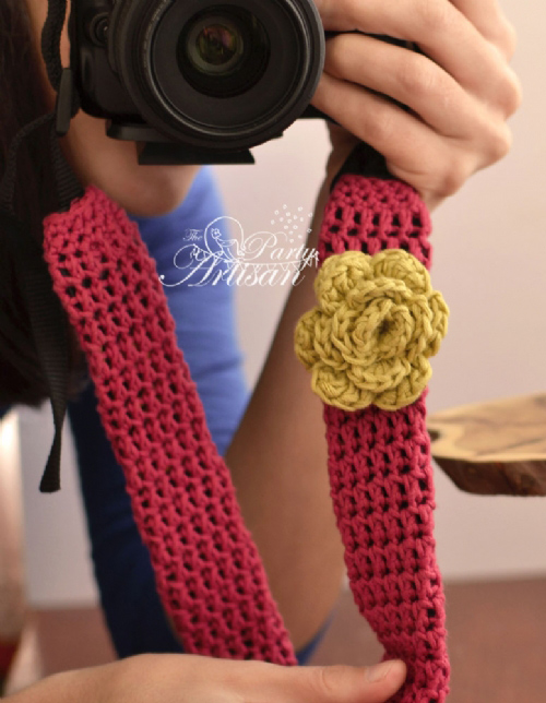 Camera Strap Cover - Free crochet pattern