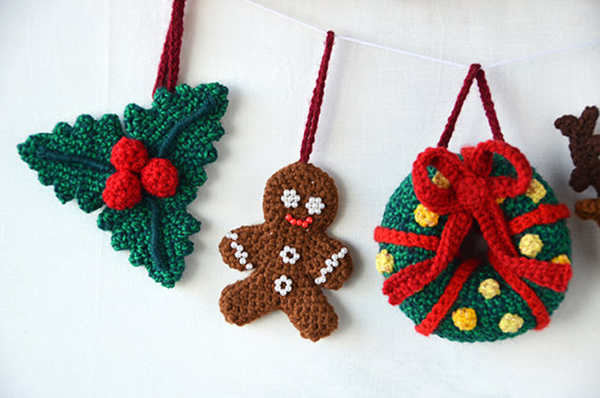 Crochet Xmas Ornaments : Christmas ornaments set crochet pattern by The Flying Dutchman crochet ...