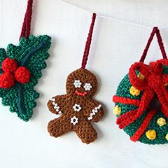 Crochet Christmas Ornaments.Christmas Ornaments Set Allcrochetpatterns Net