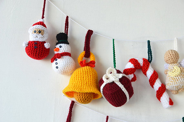 Crochet Ornaments : Christmas ornaments set crochet by The Flying Dutchman crochet design