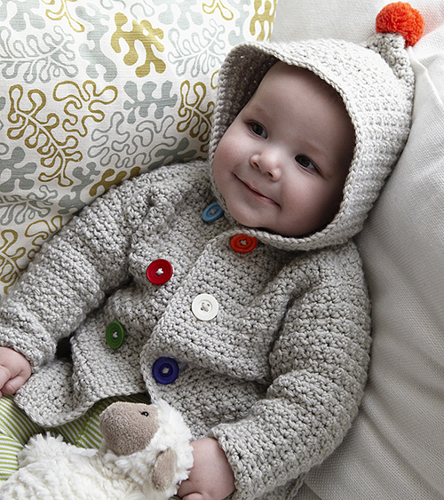 Crochet Baby Hooded Sweater Pattern Free : free crochet hooded sweater pattern