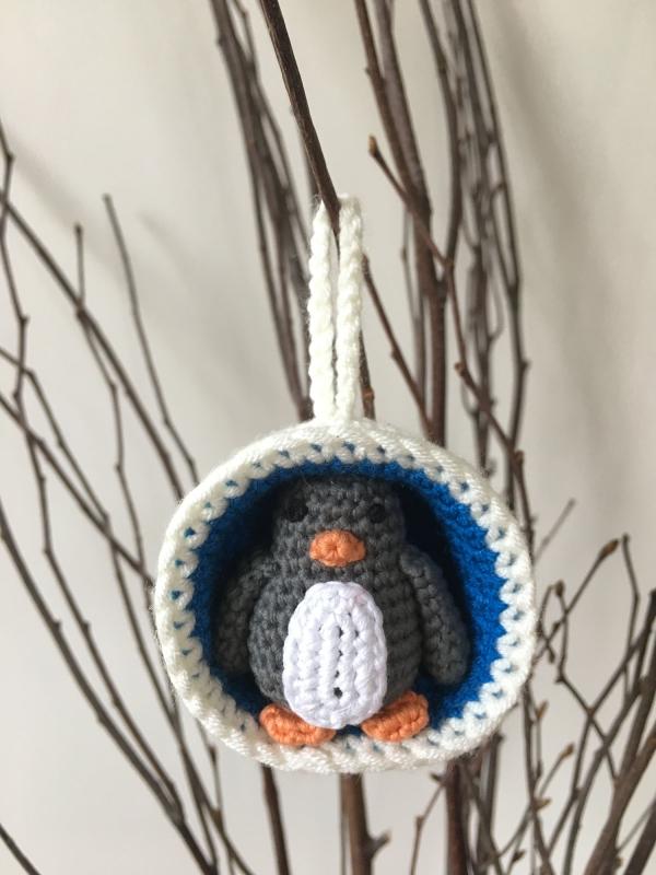 Christmas Bauble Ornaments Snowman Penguin Crochet Pattern