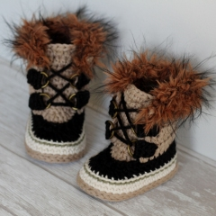 Summit Snowboot crochet by Inventorium