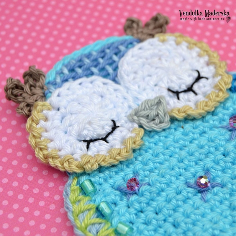 Crochet Stitches Net : Blue owl applique crochet pattern - Allcrochetpatterns.net
