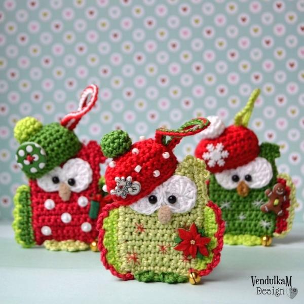 Christmas Owl.Christmas Owl Allcrochetpatterns Net