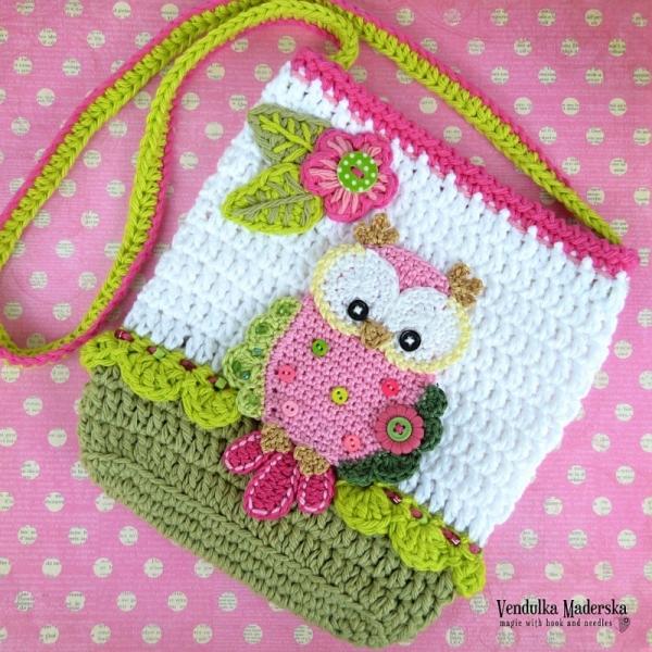 Crochet Pattern For Owl Bag : Owl purse crochet pattern - Allcrochetpatterns.net