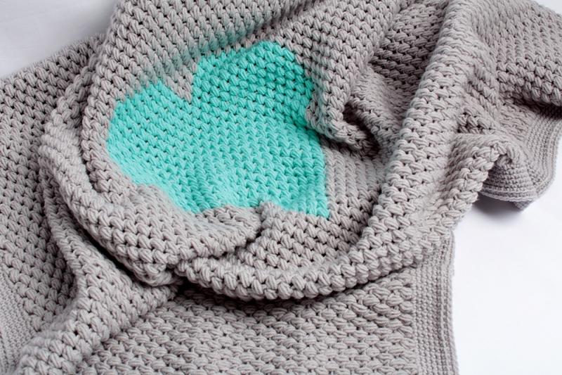 Heart Baby Blanket Crochet Pattern Allcrochetpatterns