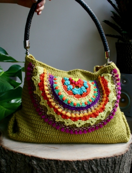 Boho Beaded Tote Crochet Pattern Allcrochetpatterns