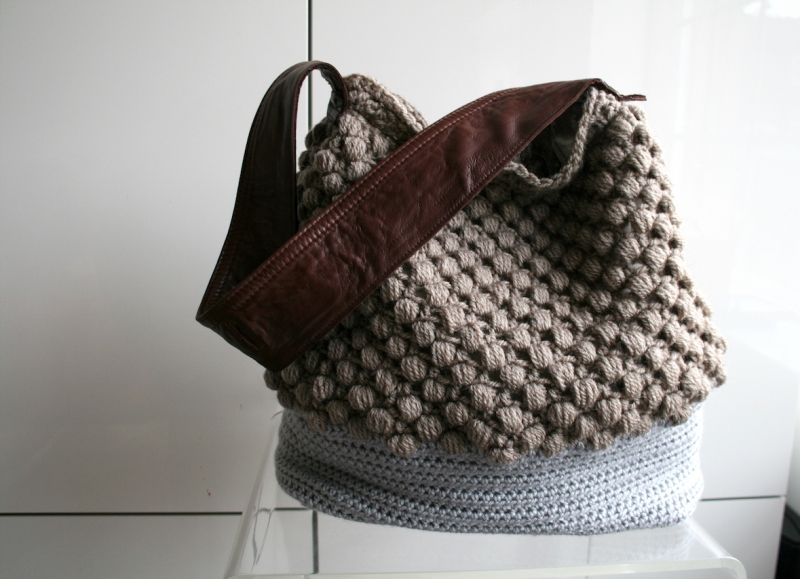 City Tote Upcycled Leather Handle 273 Crochet Pattern
