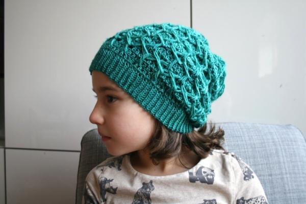 Honeycomb slouchy hat crochet pattern - Allcrochetpatterns.net