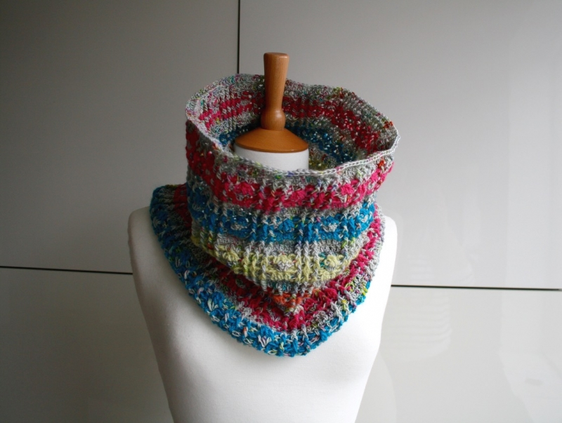 Plaid Snood Scarf Crochet Pattern Allcrochetpatterns