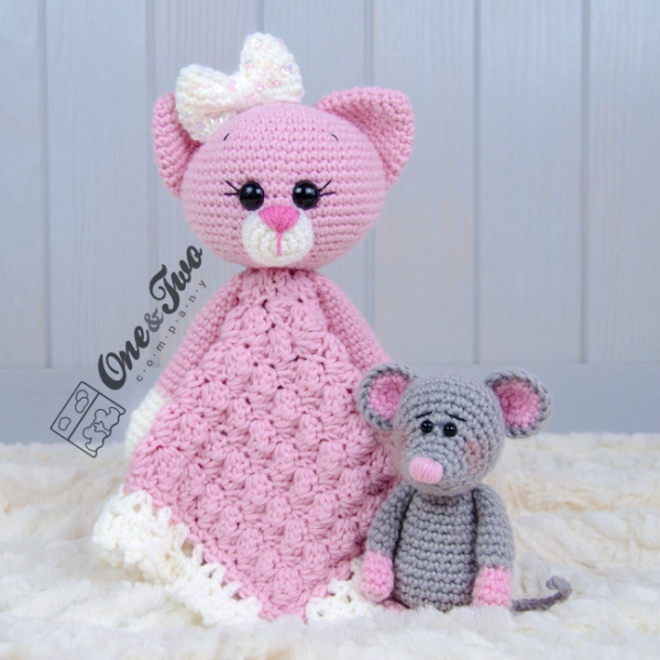 Kissie The Kitty And Skip The Little Mouse Lovey Crochet