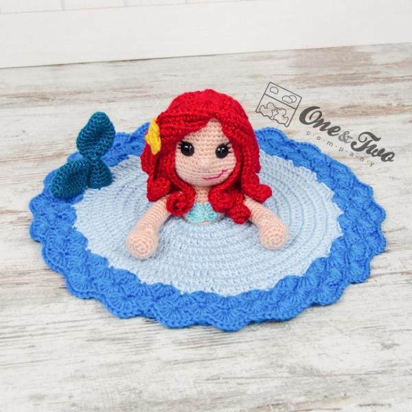 Marina The Mermaid Security Blanket Crochet Pattern