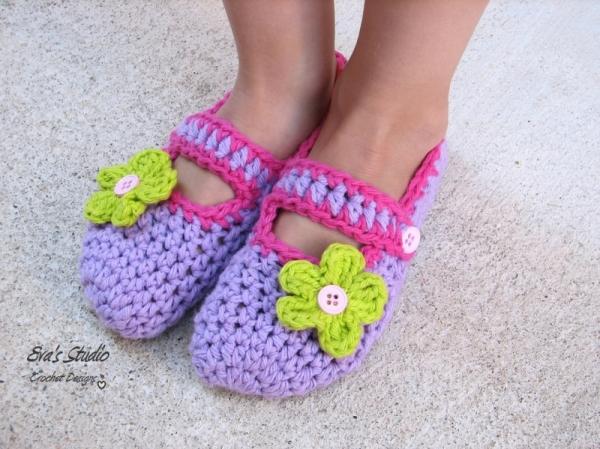 Butterfly Mary Jane Slippers Crochet Pattern Allcrochetpatternsnet