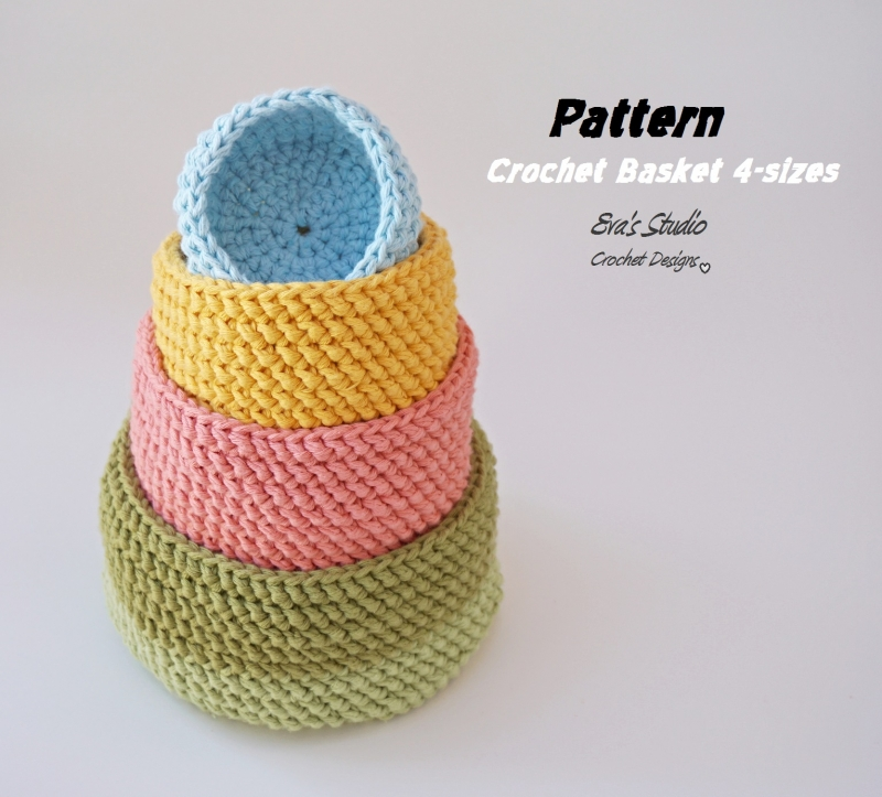 Crochet Stitches Net : ... .net > patterns > Evas studios patterns > Crochet Basket
