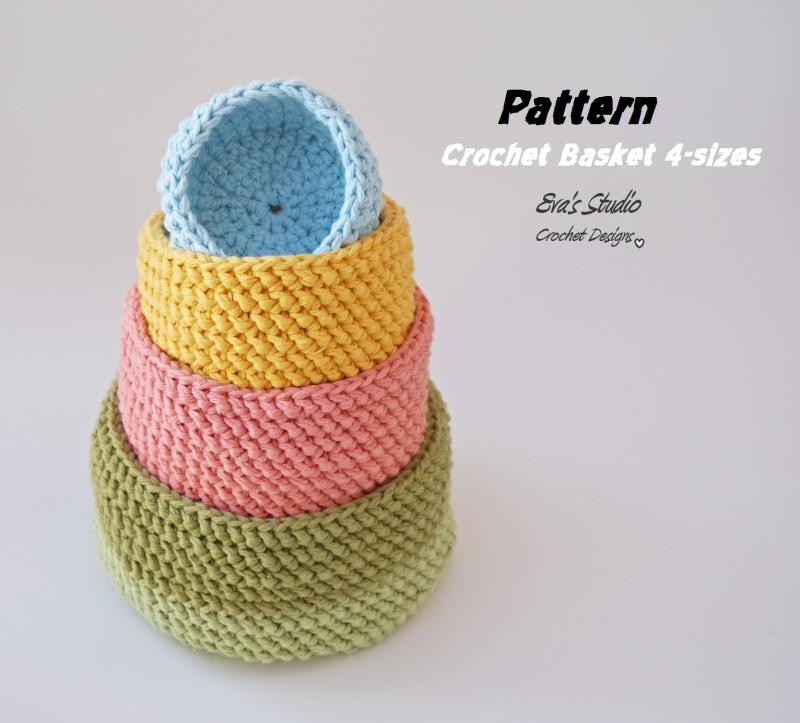 All Crochet Patterns : ... .net > patterns > Evas studios patterns > Crochet Basket