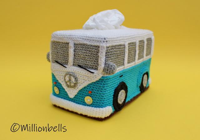 Tissue Box Cover Vw Inspired Bus Crochet Pattern
