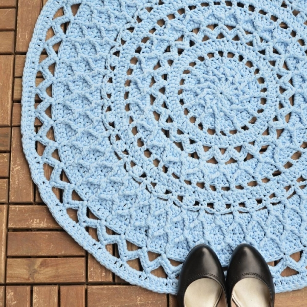 Andromeda Mandala Rug Crochet Pattern Allcrochetpatterns