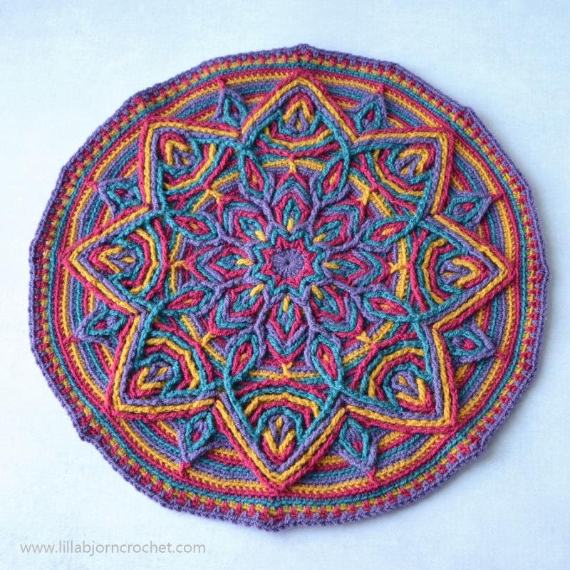 illusion mandala crochet pattern allcrochetpatternsnet